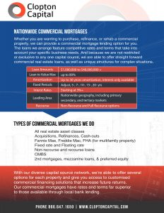 Commercial Mortgages Program infographic