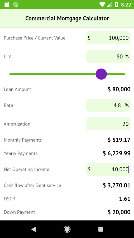 commercial mortgage calculator easy to use mortgage calculator